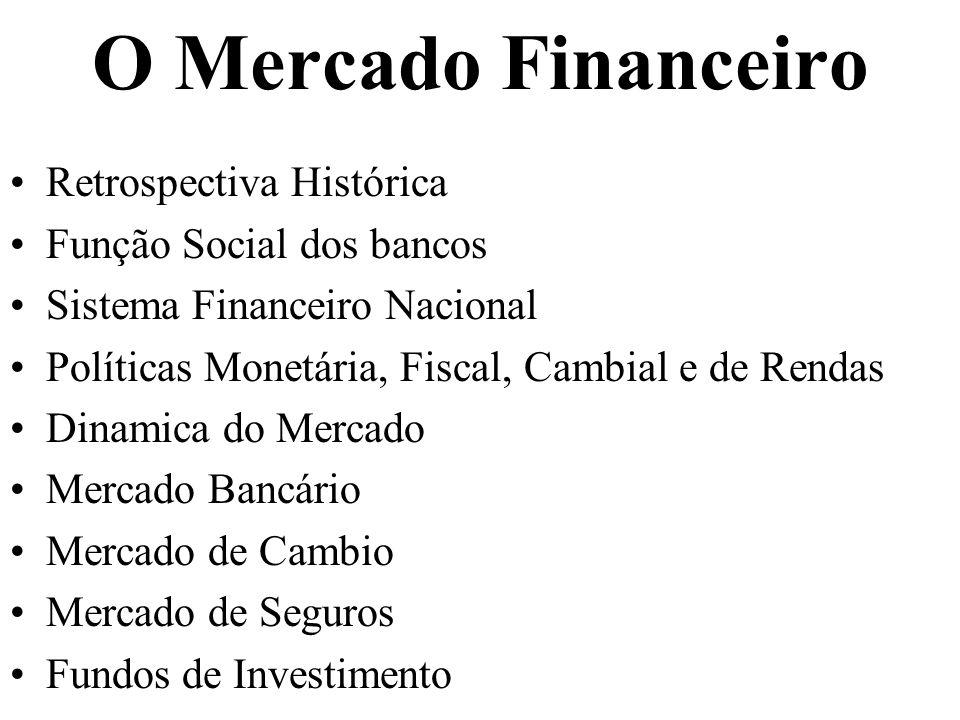 O Mercado Financeiro Retrospectiva Histórica Função Social dos bancos