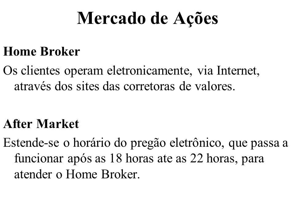 Mercado de Ações Home Broker
