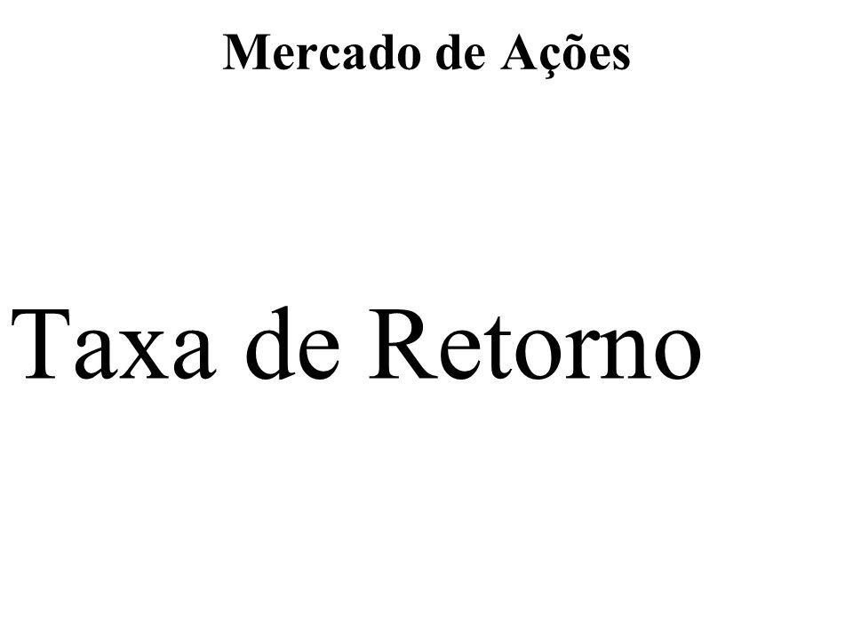 Mercado de Ações Taxa de Retorno