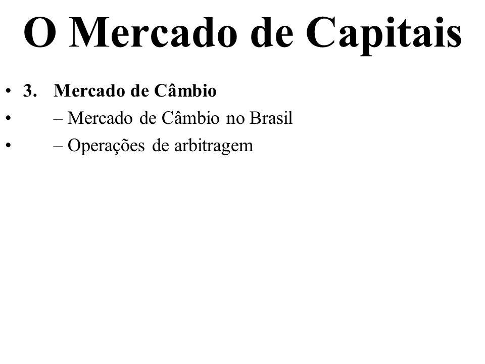 O Mercado de Capitais 3. Mercado de Câmbio