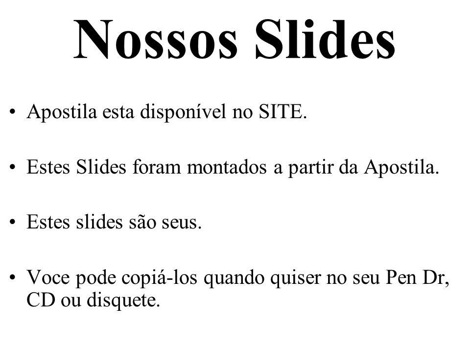 Nossos Slides Apostila esta disponível no SITE.