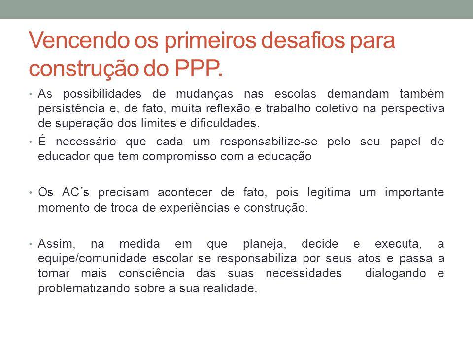 Vencendo os primeiros desafios para construção do PPP.