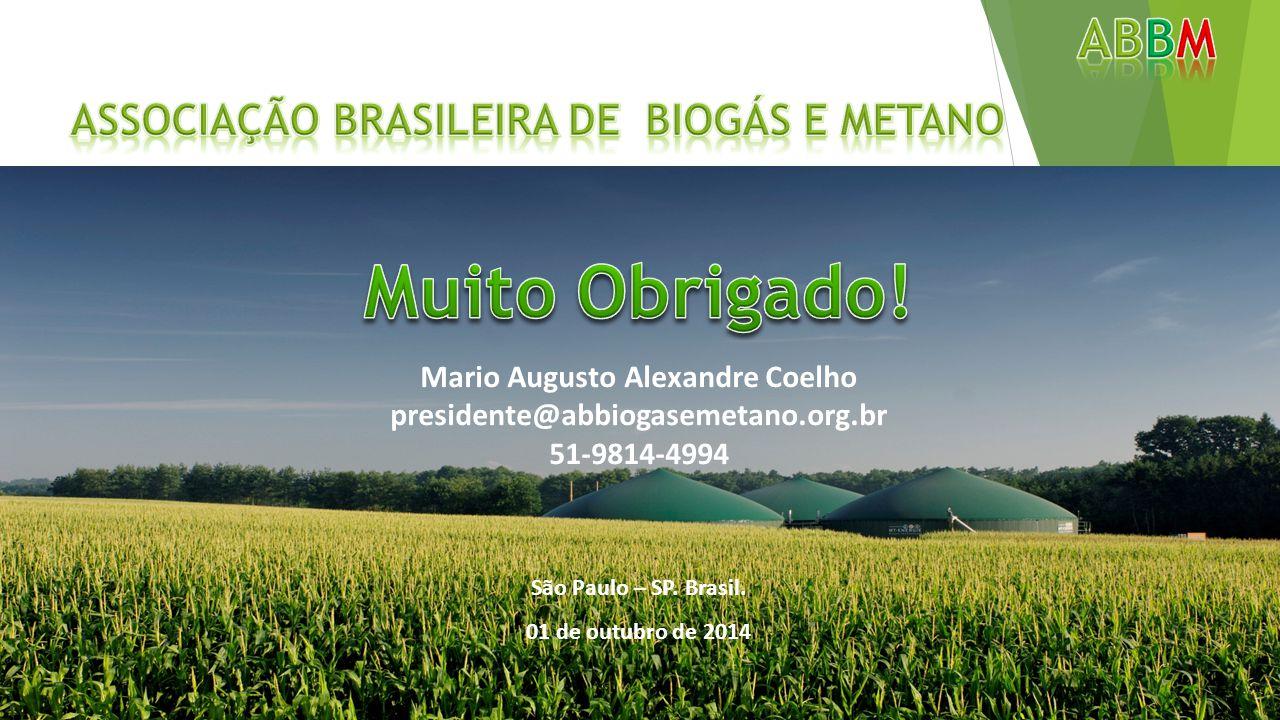 Muito Obrigado! ABbm Associação Brasileira de biogás e metano