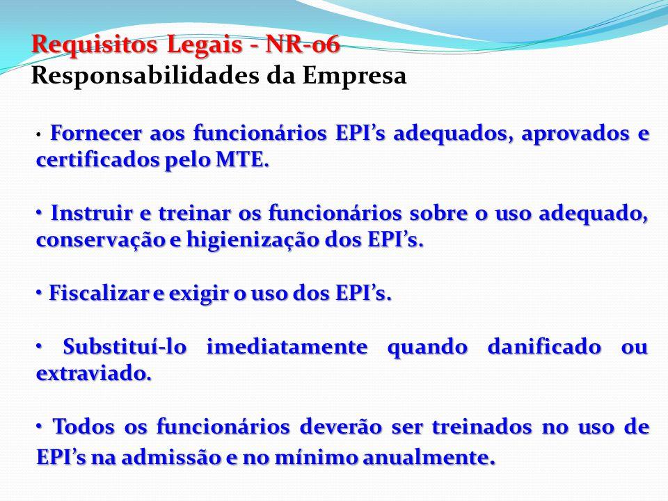 Requisitos Legais - NR-06 Responsabilidades da Empresa