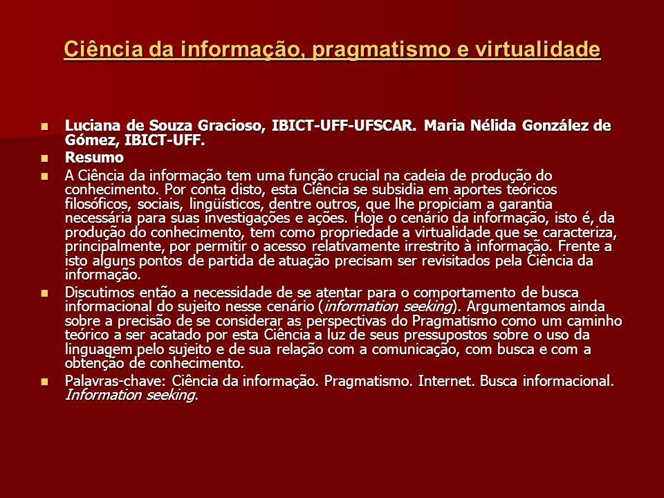 Ciência da informação, pragmatismo e virtualidade