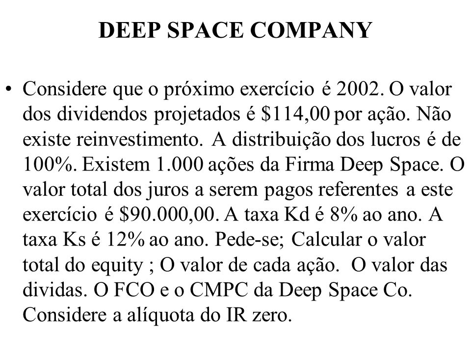 DEEP SPACE COMPANY