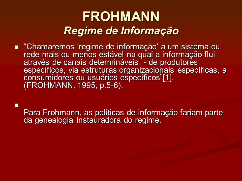 FROHMANN Regime de Informação