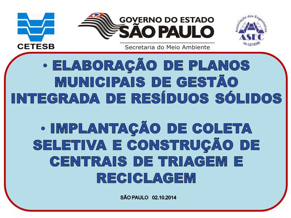 ELABORAÇÃO DE PLANOS MUNICIPAIS DE GESTÃO INTEGRADA DE RESÍDUOS SÓLIDOS