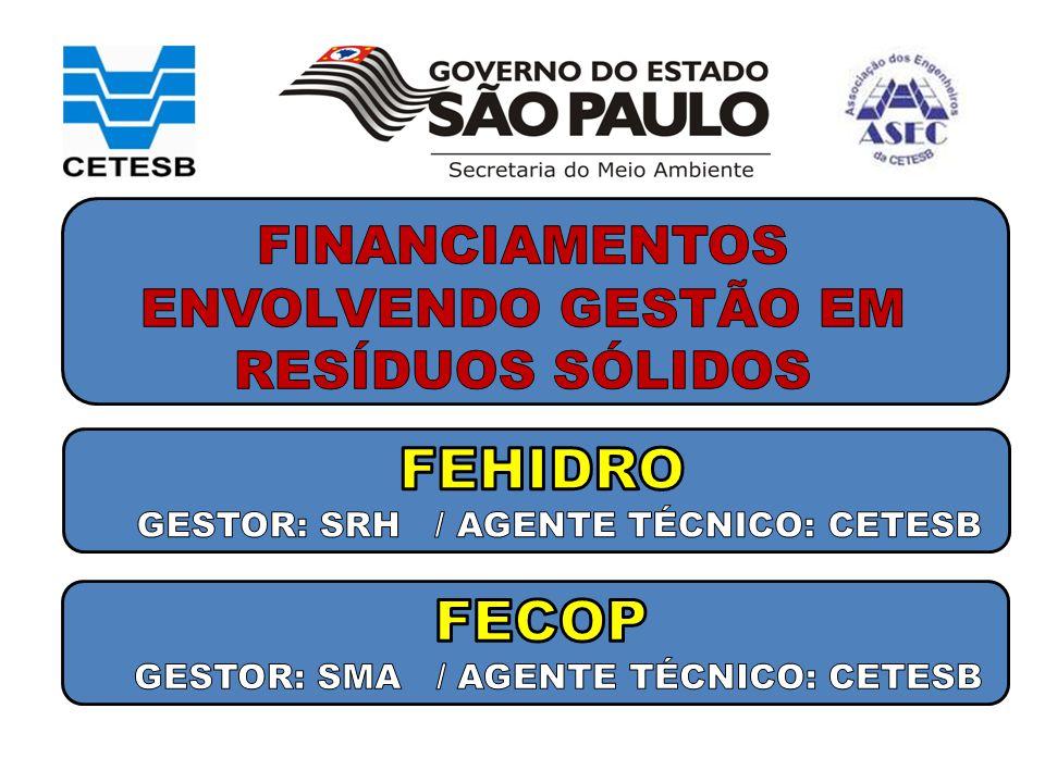 FINANCIAMENTOS ENVOLVENDO GESTÃO EM RESÍDUOS SÓLIDOS