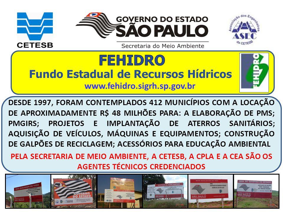 FEHIDRO Fundo Estadual de Recursos Hídricos
