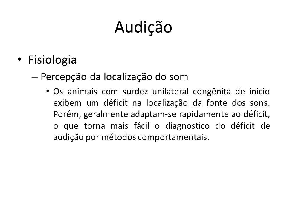 Audição Fisiologia Percepção da localização do som