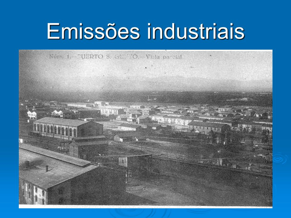 Emissões industriais