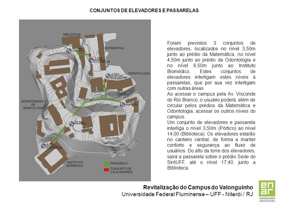 CONJUNTOS DE ELEVADORES E PASSARELAS