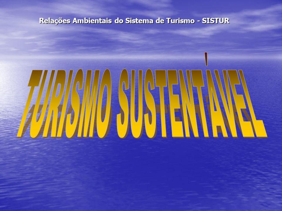Relações Ambientais do Sistema de Turismo - SISTUR