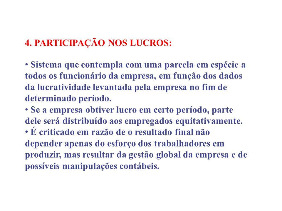 4. PARTICIPAÇÃO NOS LUCROS: