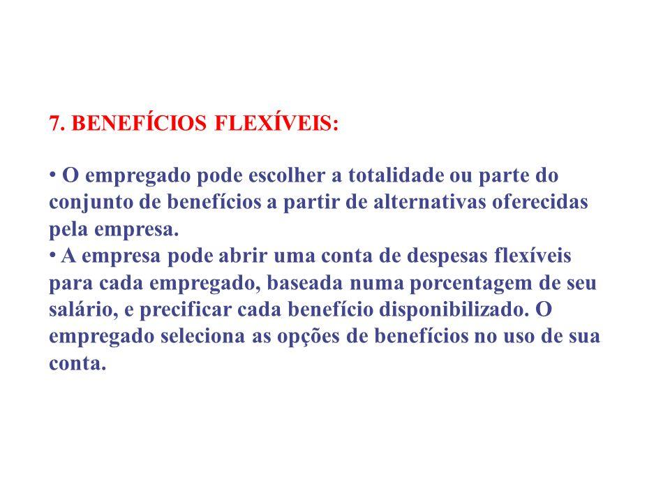 7. BENEFÍCIOS FLEXÍVEIS: