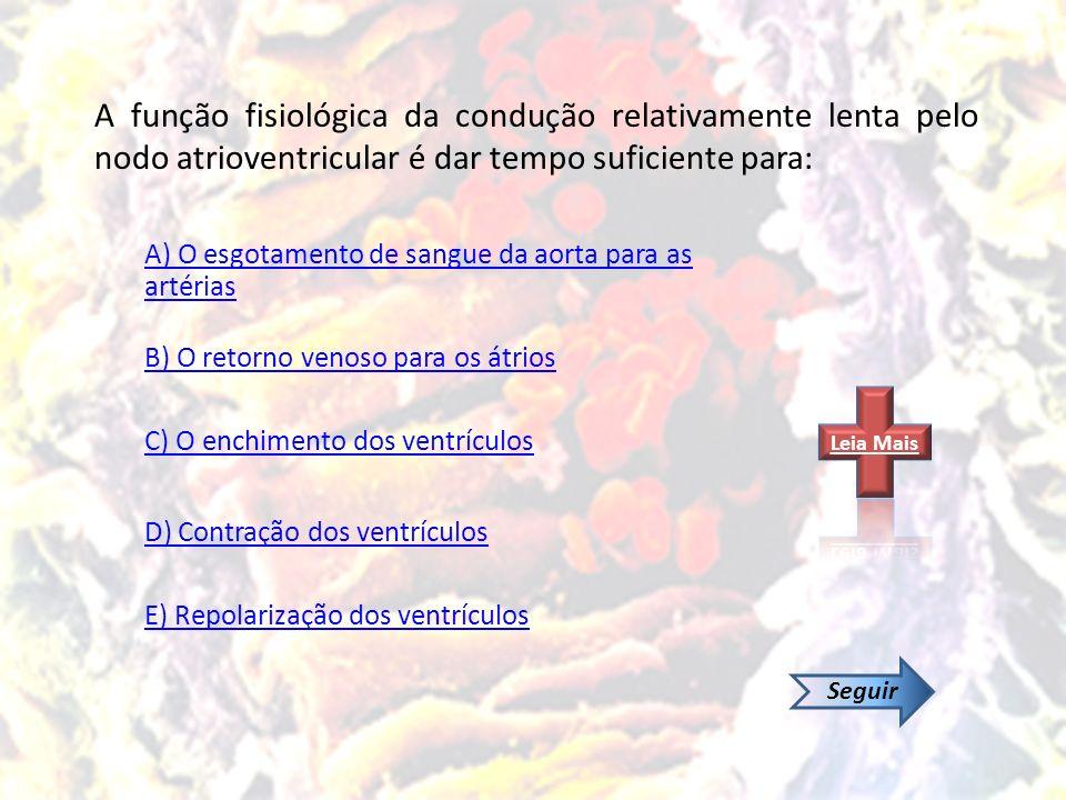 A) O esgotamento de sangue da aorta para as artérias