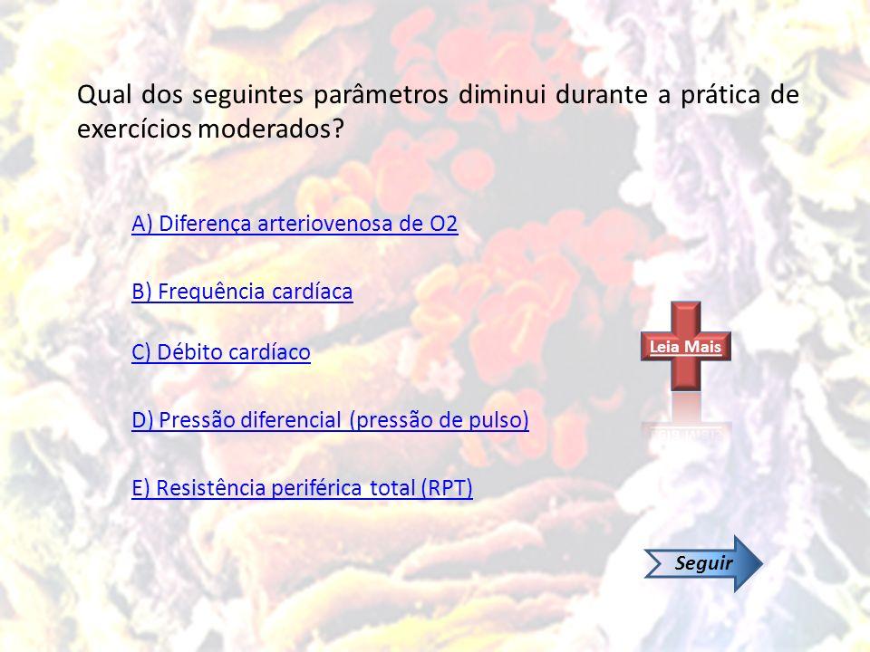 A) Diferença arteriovenosa de O2