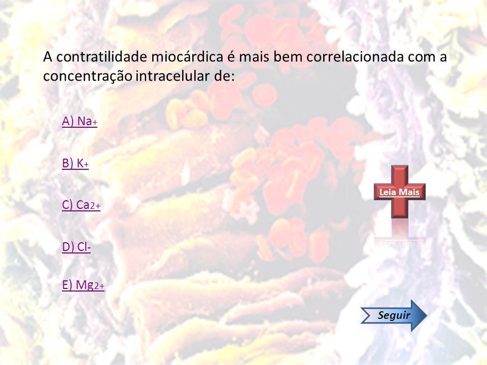 A contratilidade miocárdica é mais bem correlacionada com a concentração intracelular de: