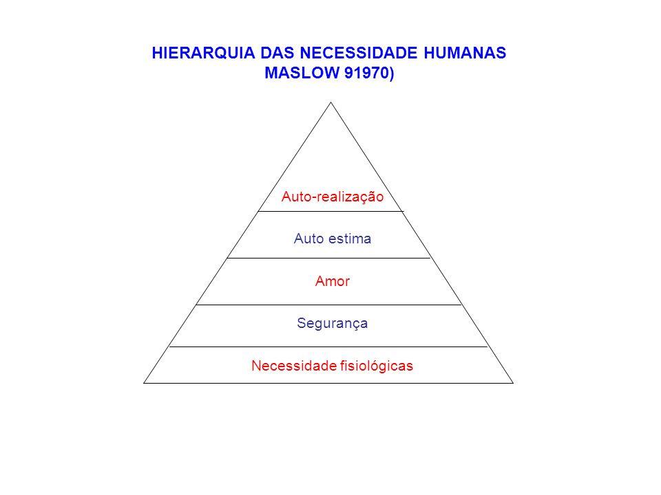 HIERARQUIA DAS NECESSIDADE HUMANAS