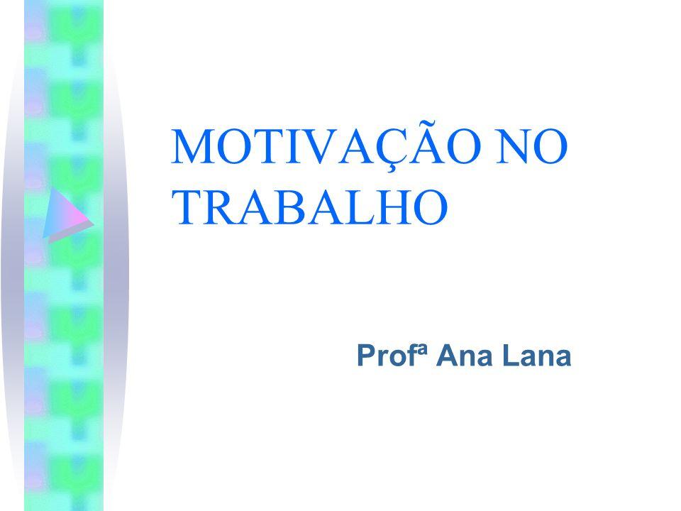 MOTIVAÇÃO NO TRABALHO Profª Ana Lana