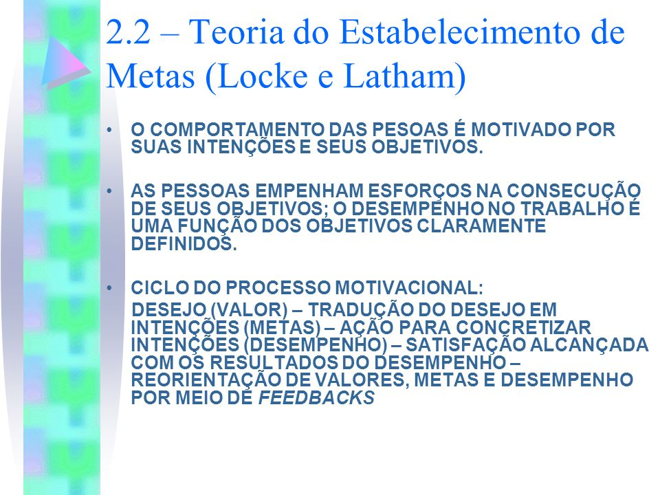 2.2 – Teoria do Estabelecimento de Metas (Locke e Latham)