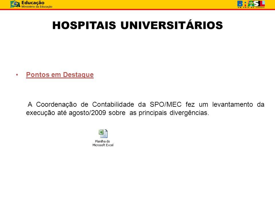 HOSPITAIS UNIVERSITÁRIOS
