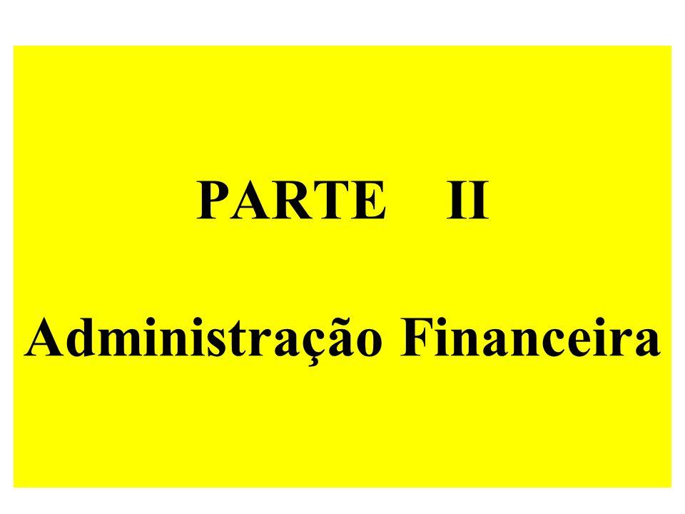 PARTE II Administração Financeira