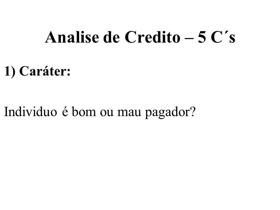 Analise de Credito – 5 C´s