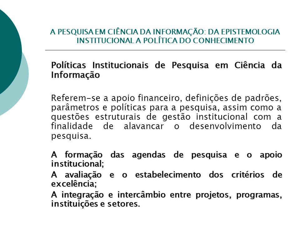 Políticas Institucionais de Pesquisa em Ciência da Informação