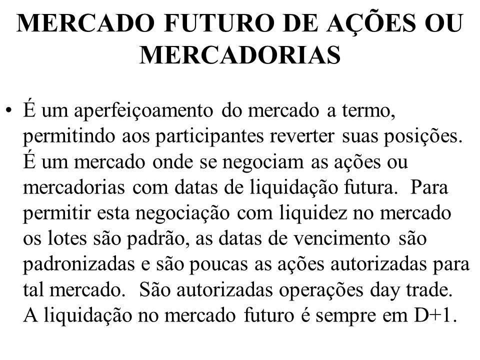 MERCADO FUTURO DE AÇÕES OU MERCADORIAS