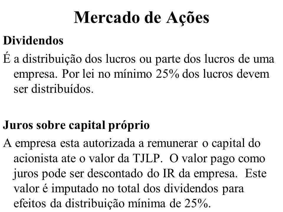 Mercado de Ações Dividendos