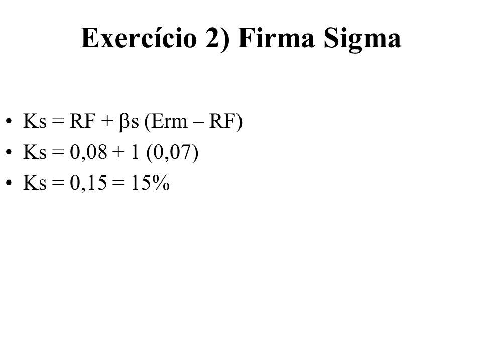 Exercício 2) Firma Sigma