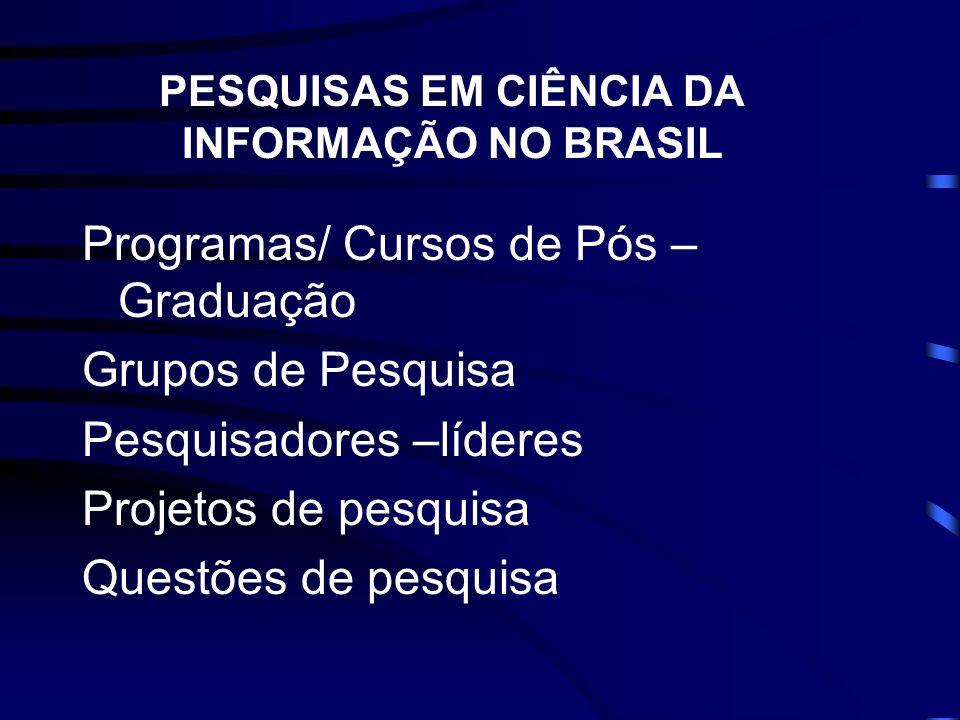PESQUISAS EM CIÊNCIA DA INFORMAÇÃO NO BRASIL