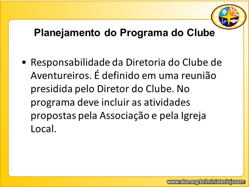 Planejamento do Programa do Clube