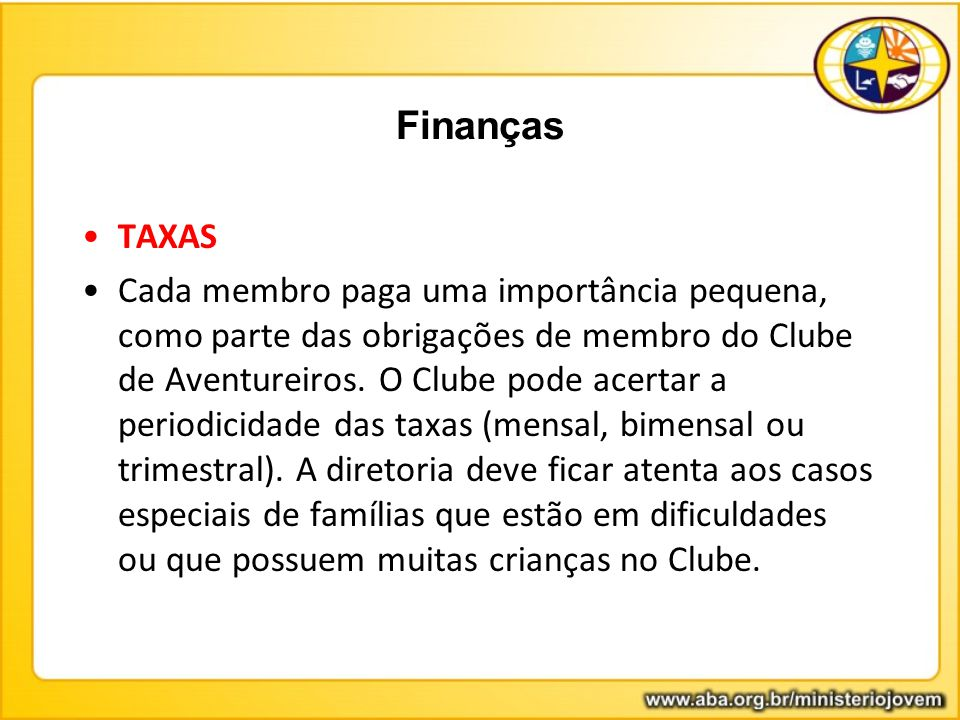 Finanças TAXAS.
