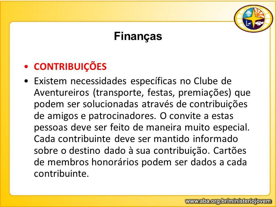 Finanças CONTRIBUIÇÕES