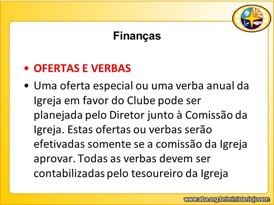 Finanças OFERTAS E VERBAS.