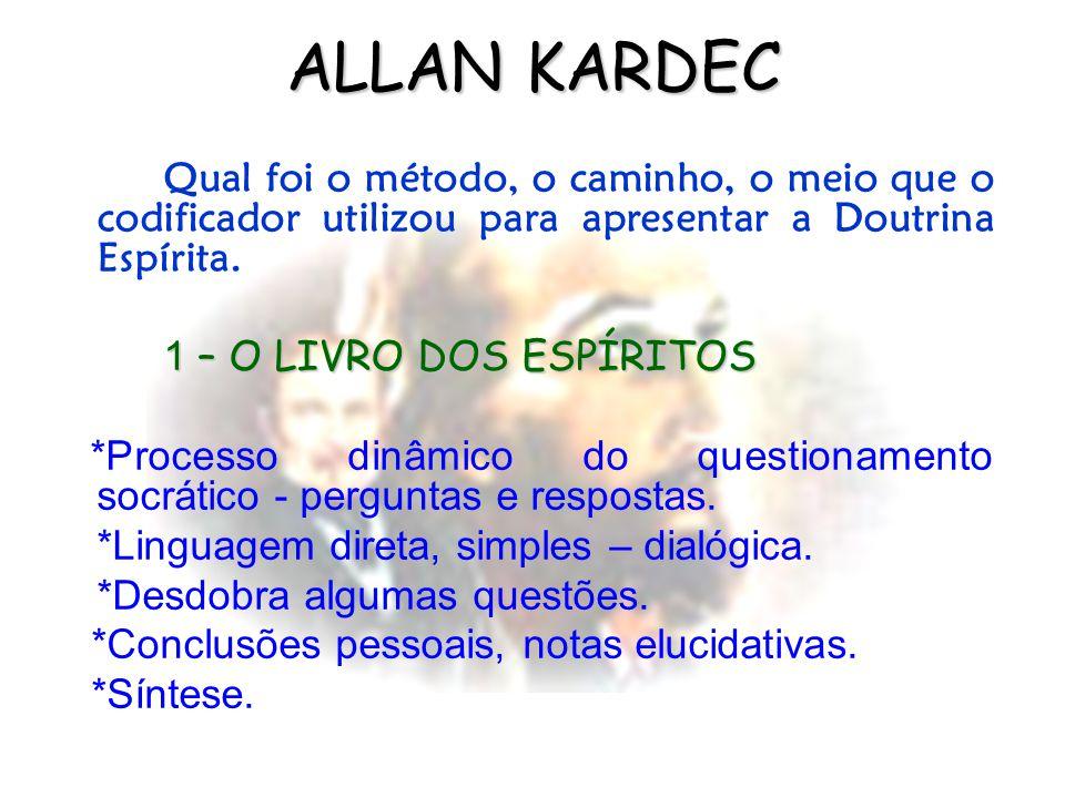 ALLAN KARDEC Qual foi o método, o caminho, o meio que o codificador utilizou para apresentar a Doutrina Espírita.