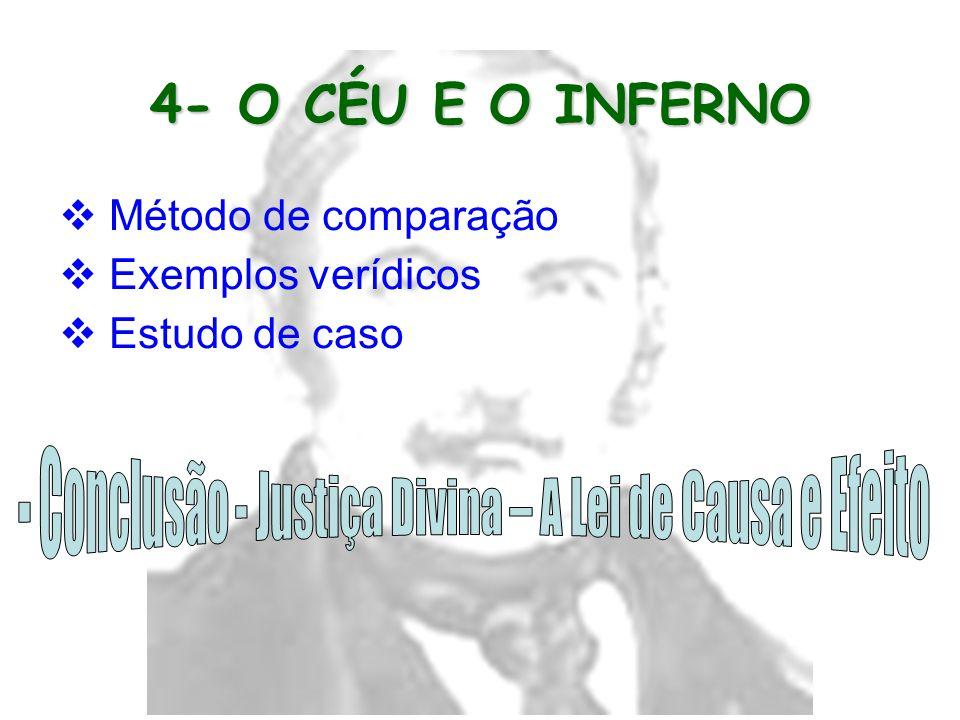 - Conclusão - Justiça Divina – A Lei de Causa e Efeito