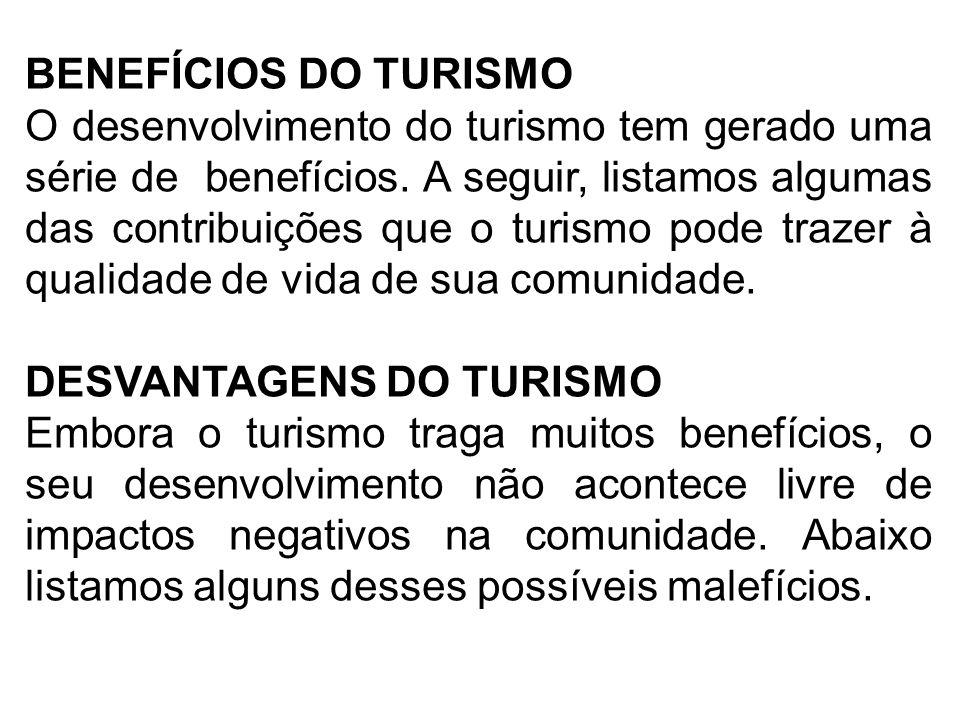 BENEFÍCIOS DO TURISMO
