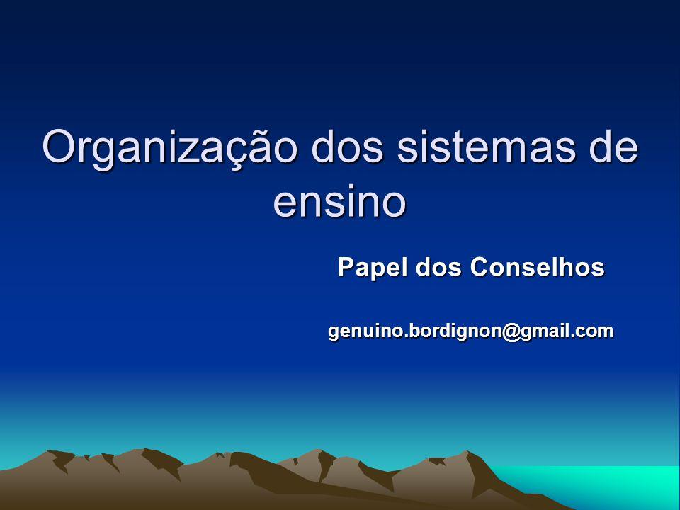 Organização dos sistemas de ensino