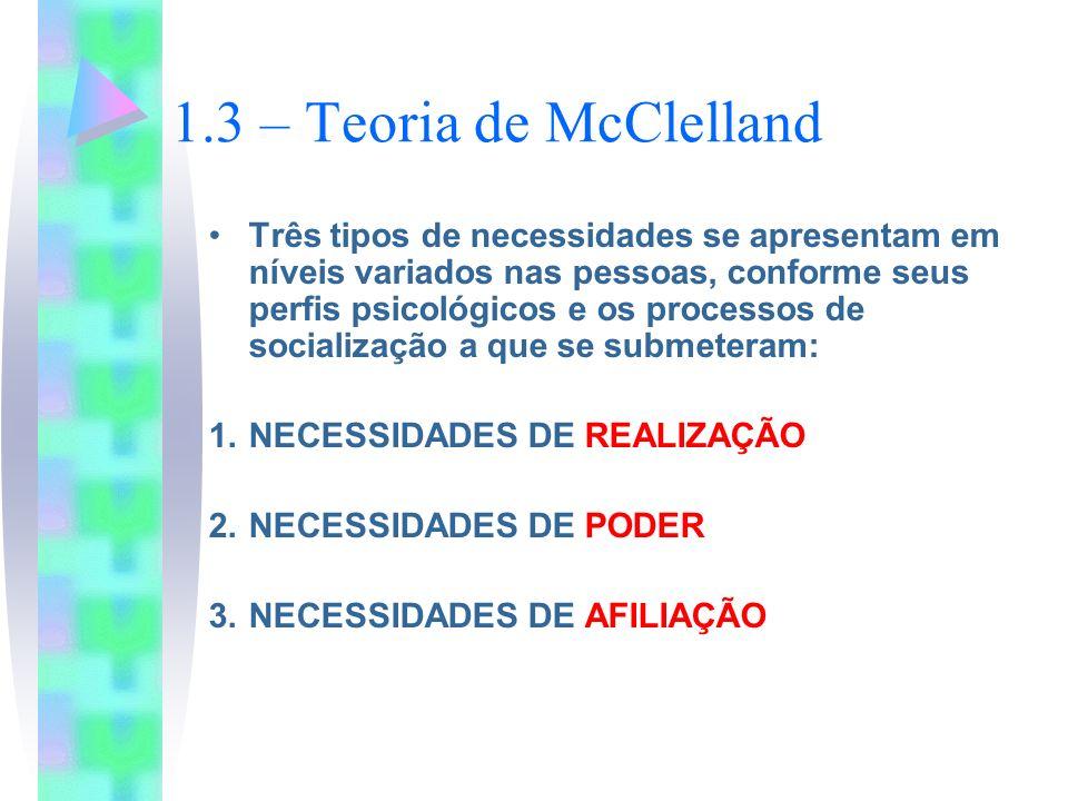 1.3 – Teoria de McClelland