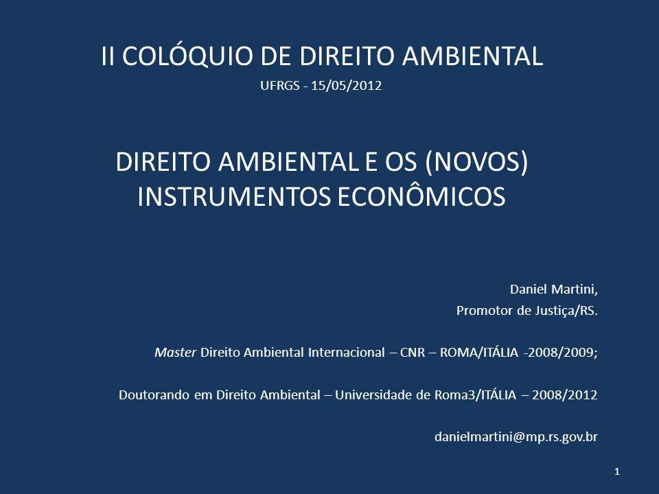II COLÓQUIO DE DIREITO AMBIENTAL