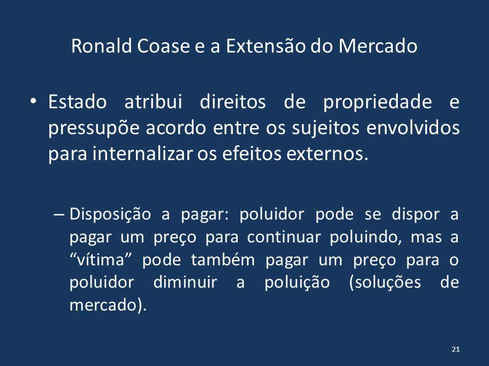 Ronald Coase e a Extensão do Mercado