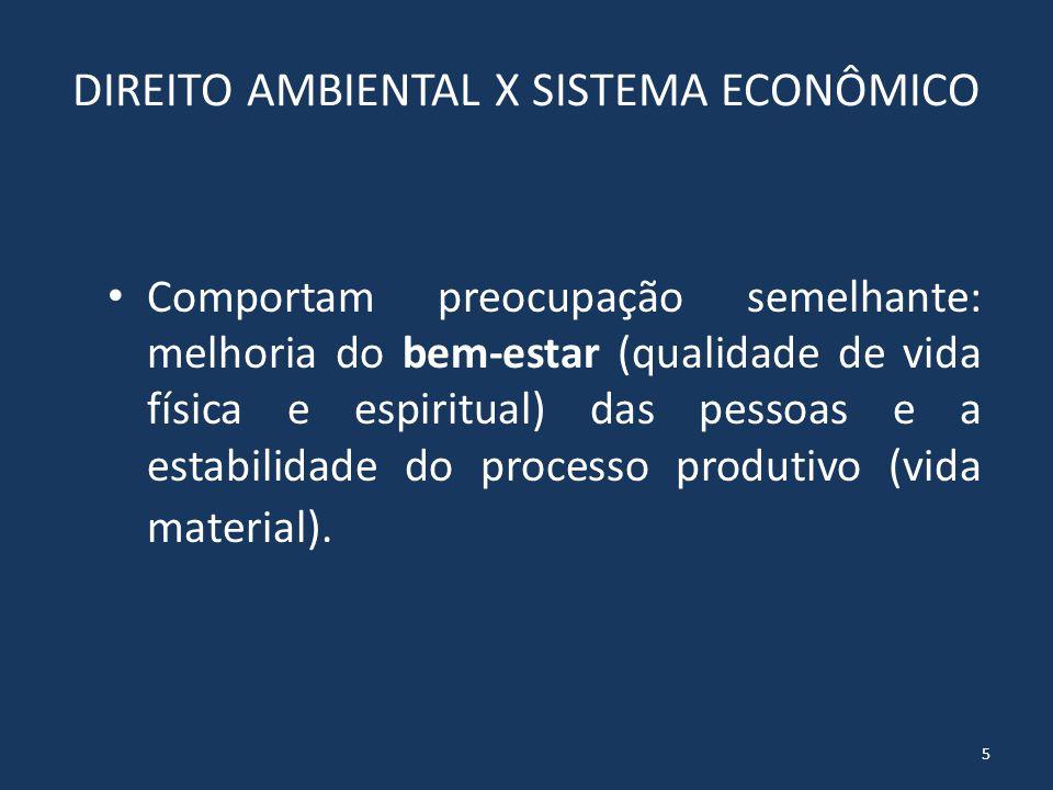 DIREITO AMBIENTAL X SISTEMA ECONÔMICO