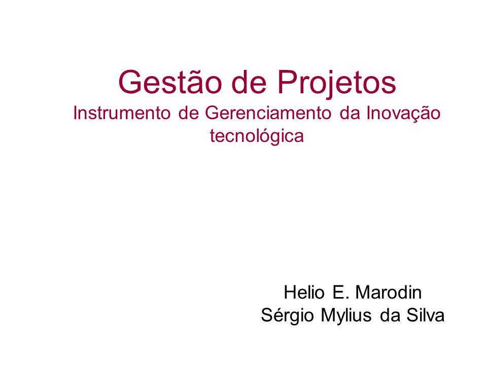 Gestão de Projetos Instrumento de Gerenciamento da Inovação tecnológica