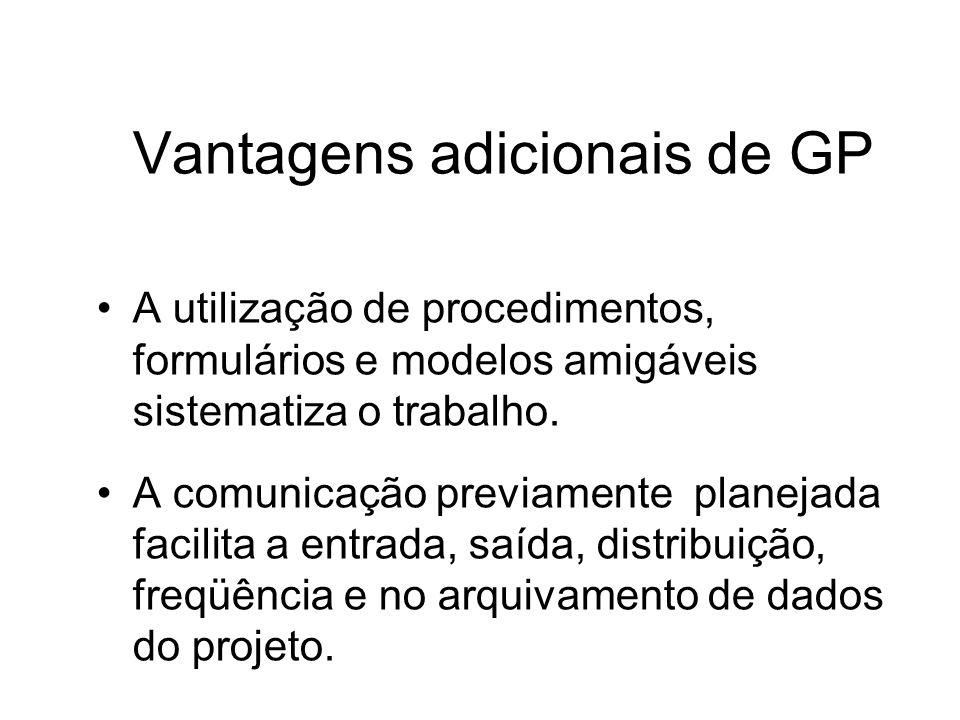 Vantagens adicionais de GP