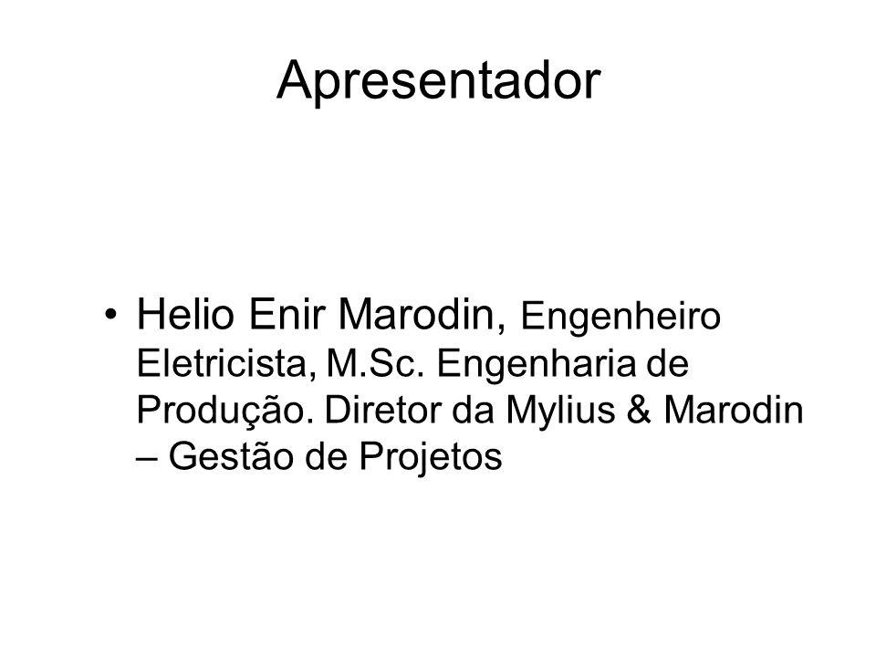 Apresentador Helio Enir Marodin, Engenheiro Eletricista, M.Sc.