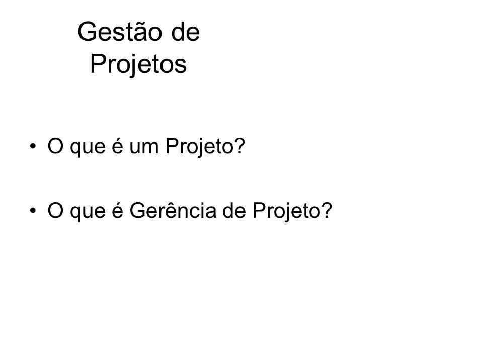 Gestão de Projetos O que é um Projeto O que é Gerência de Projeto
